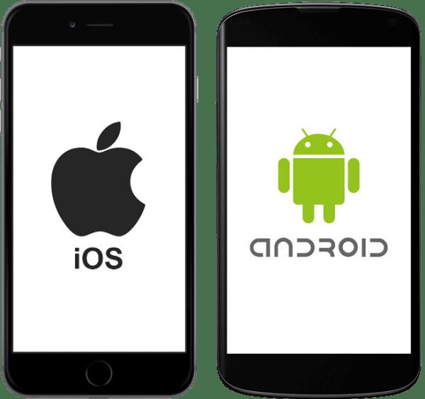 Telephones ios android