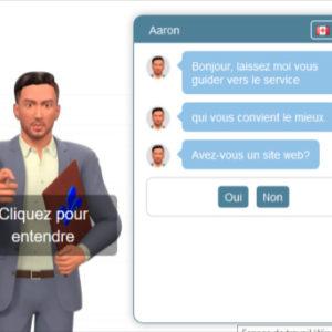 clavardeur automatisé avec avatar 3D ou porte-parole