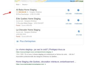 Google Search Result of Ali Baba Home Staging